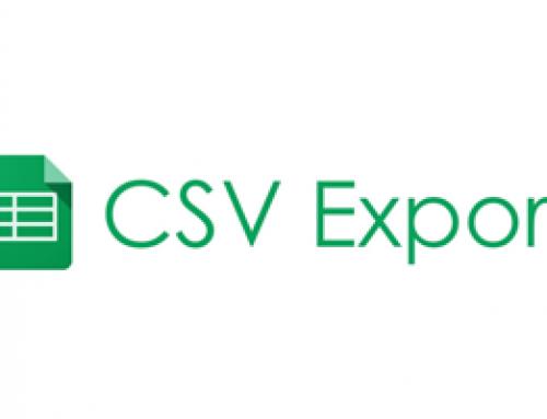 CSV Export