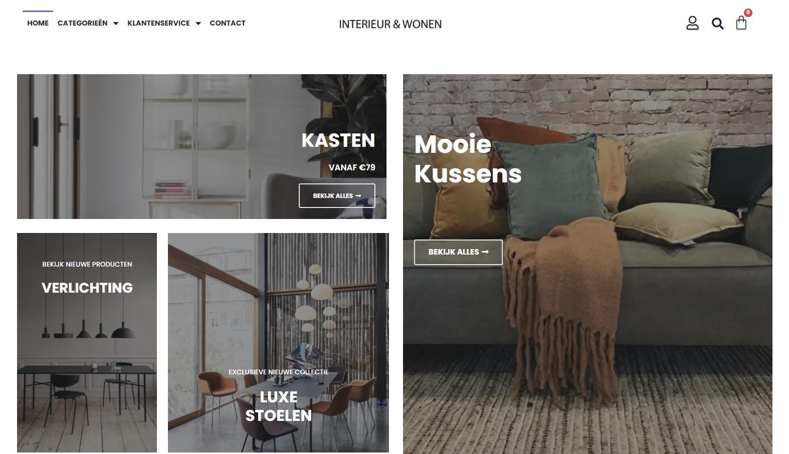 MplusKassa webshop voor woonwinkel