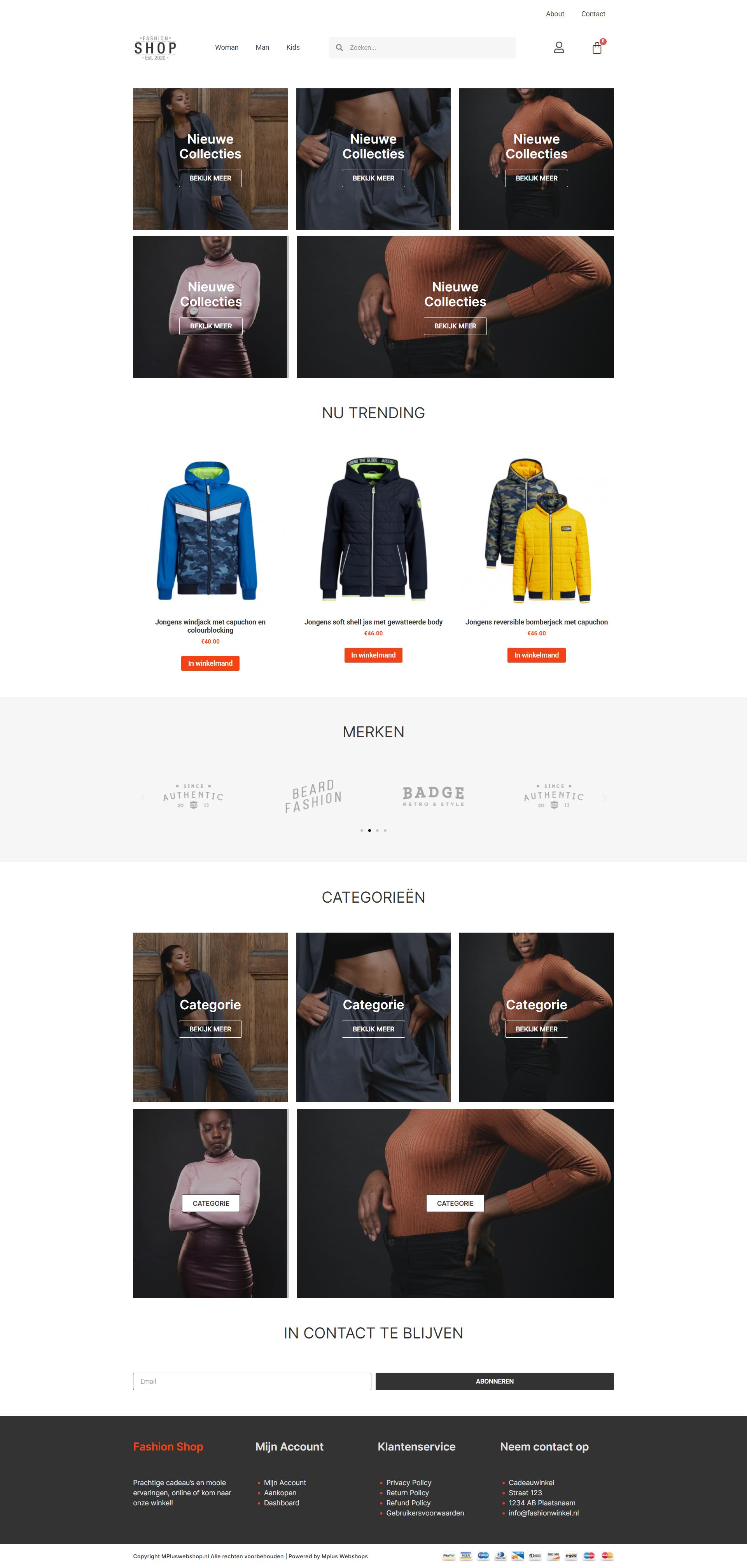 Fashion webshop gekoppeld aan MplusKassa