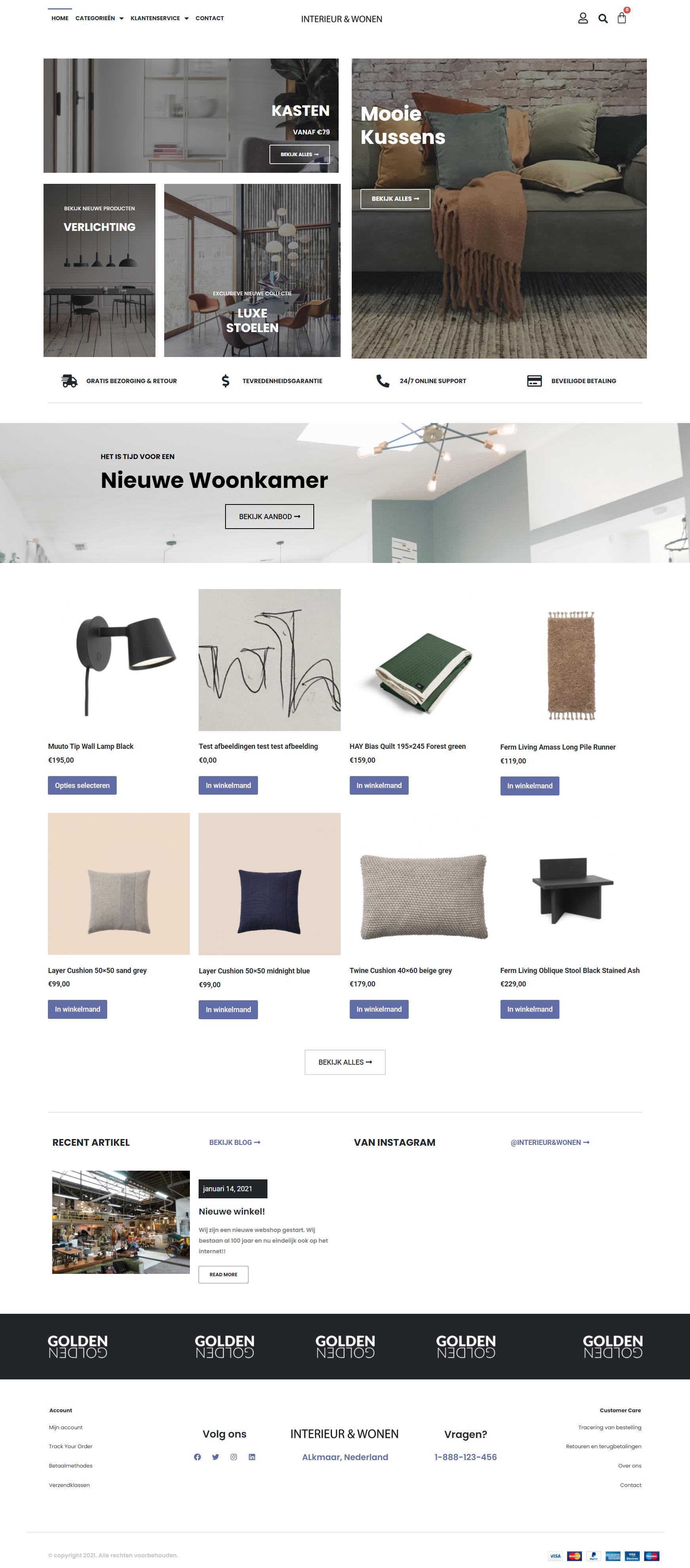Woonwinkel webshop laten maken MplusKassa